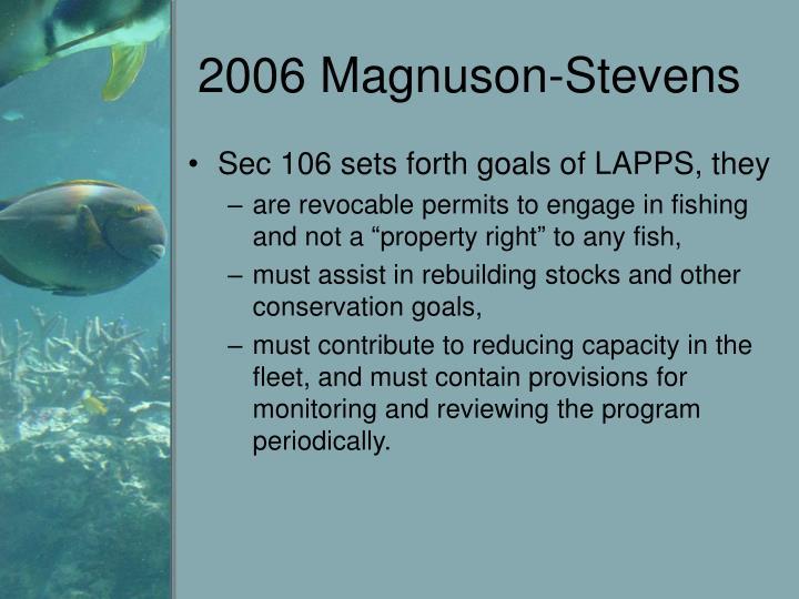 2006 Magnuson-Stevens