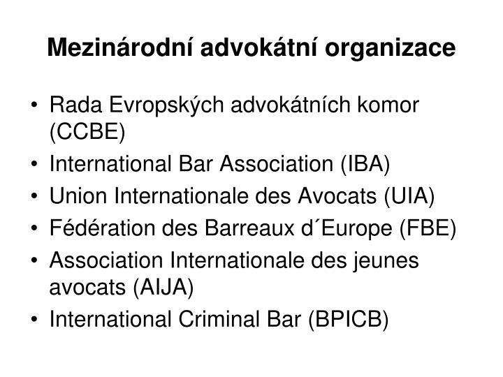 Mezinárodní advokátní organizace