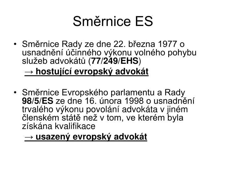 Směrnice ES