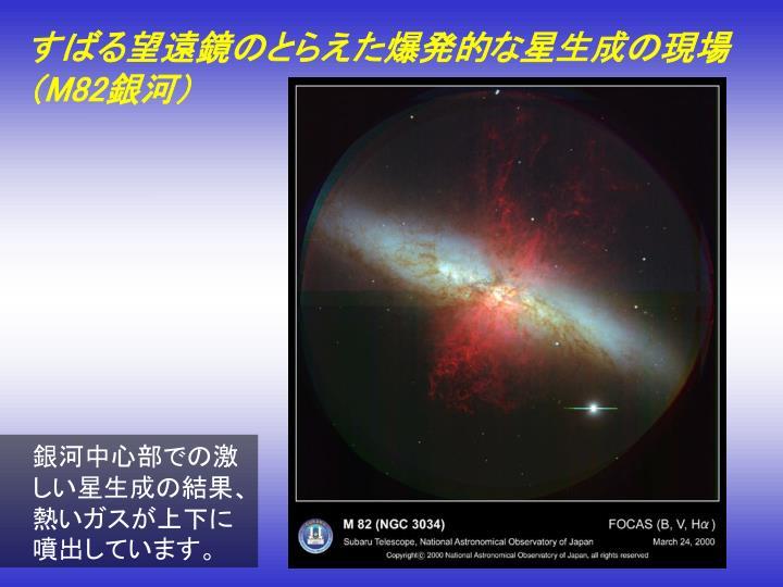 すばる望遠鏡のとらえた爆発的な星生成の現場