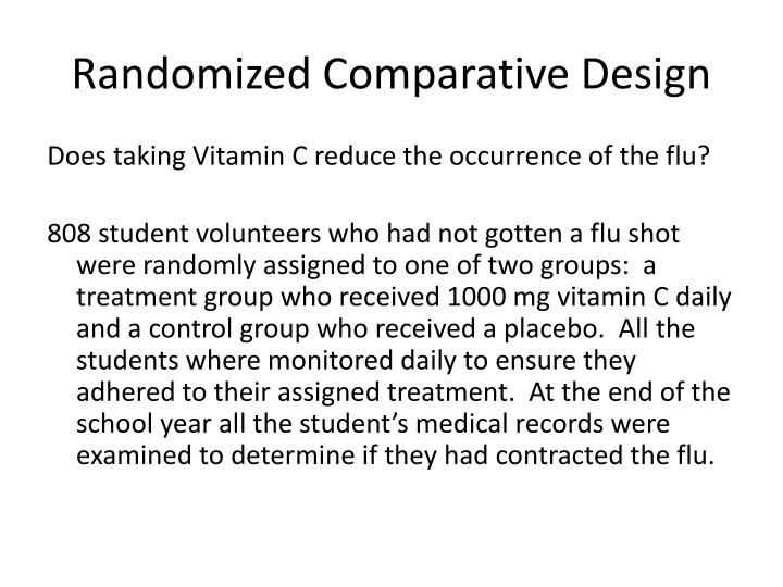 Randomized Comparative Design