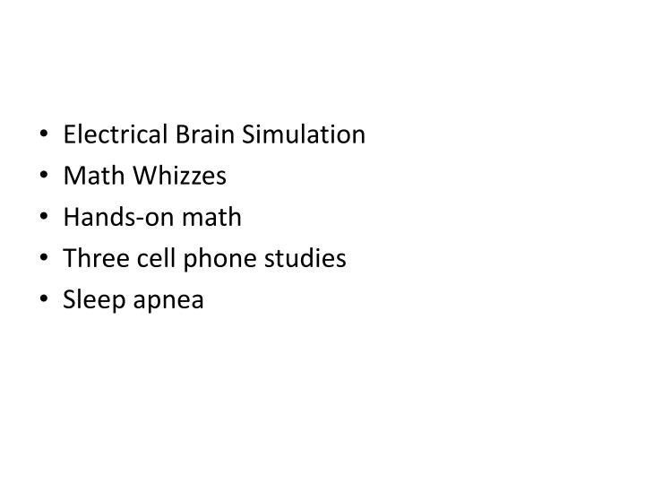 Electrical Brain Simulation