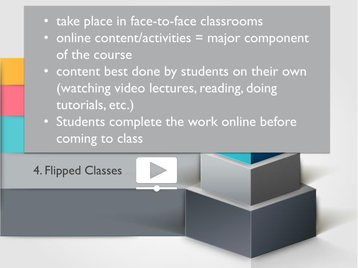 take place in face-to-face classrooms