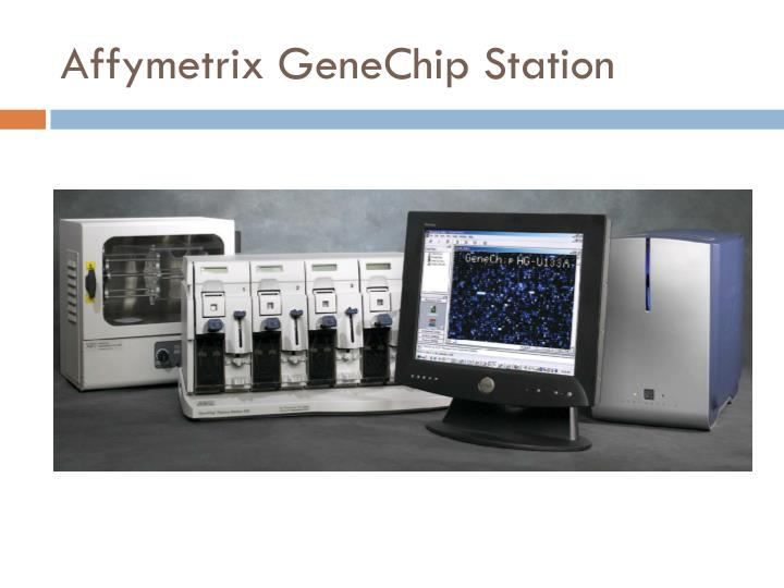 Affymetrix GeneChip Station