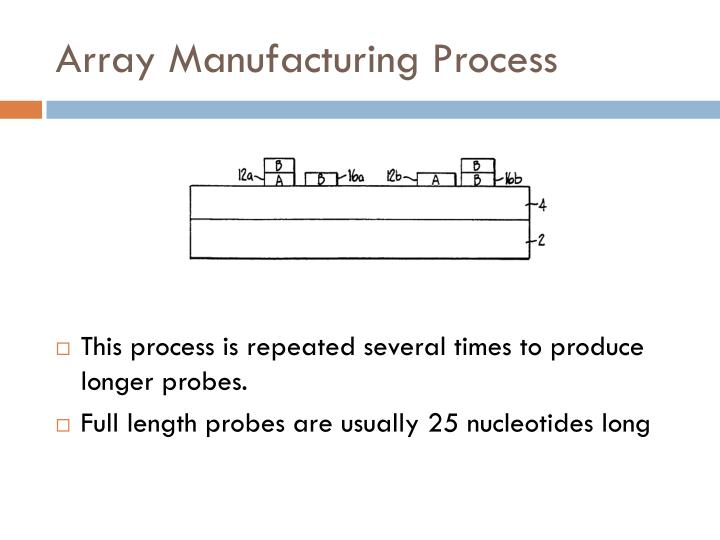 Array Manufacturing Process