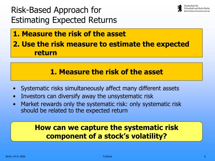 Risk-Based Approach for