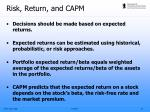 risk return and capm1