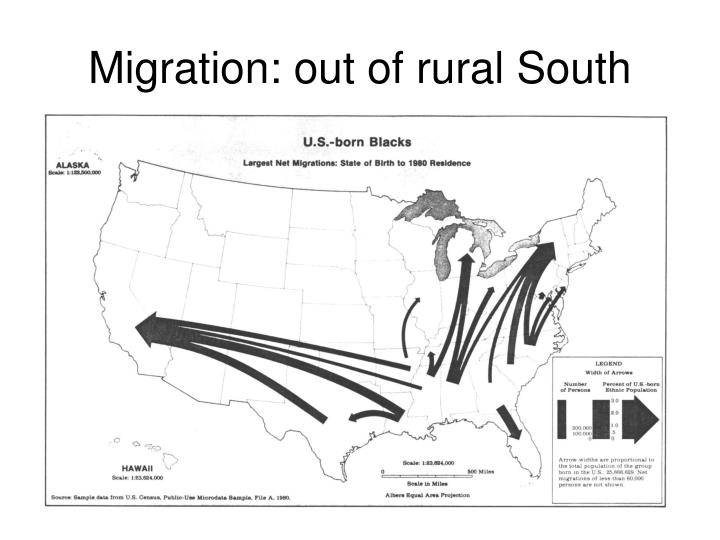 Migration: out of rural South