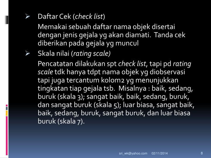 Daftar Cek (