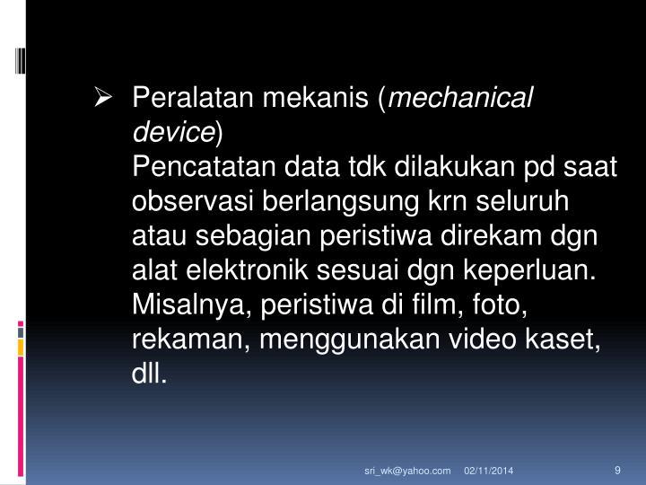 Peralatan mekanis (