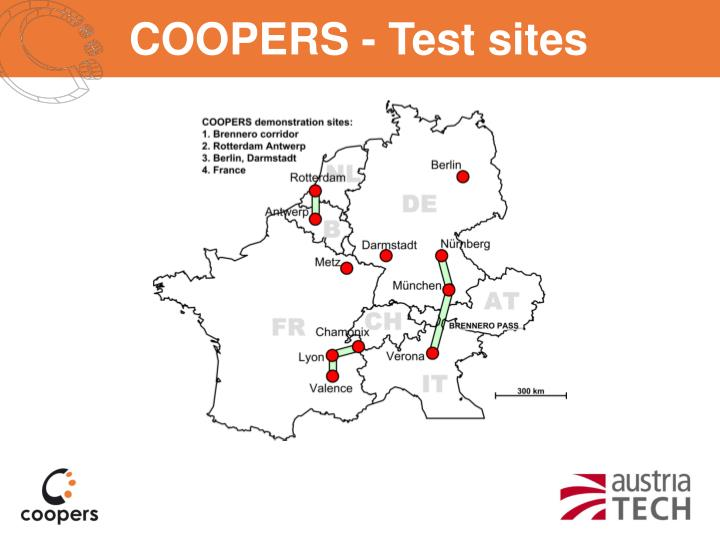 COOPERS - Test sites
