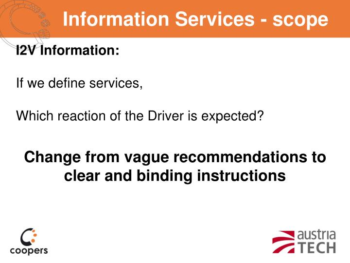 Information Services - scope
