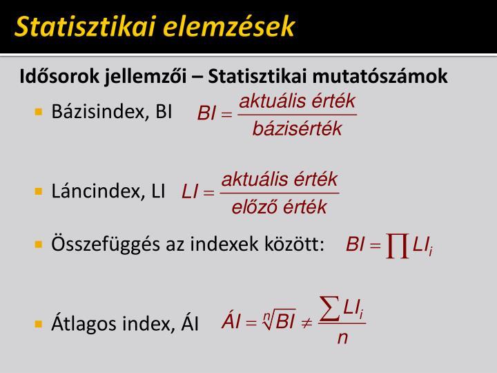 Statisztikai elemzések