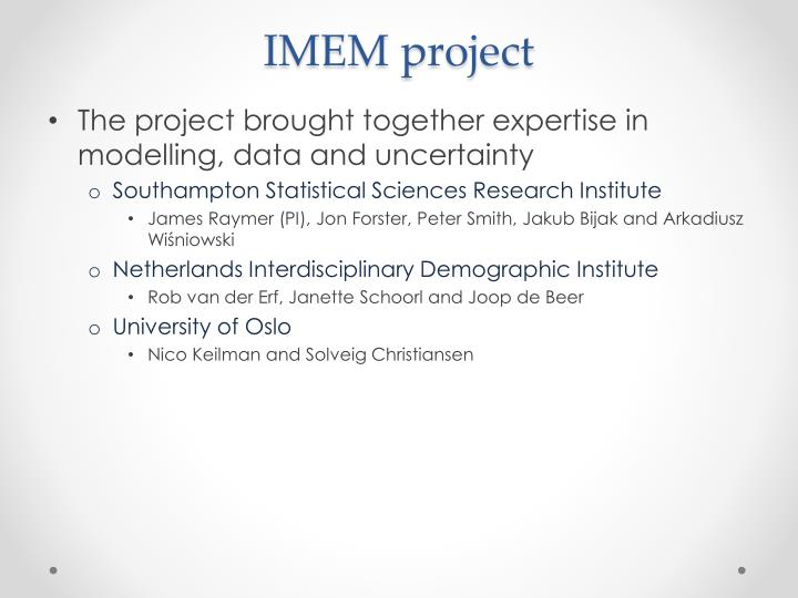 IMEM project