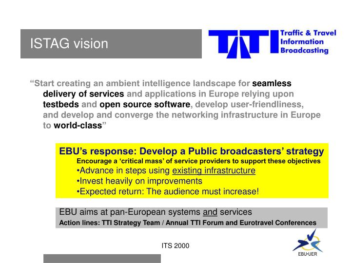 ISTAG vision