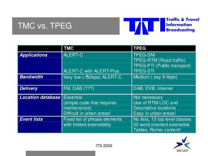 TMC vs. TPEG