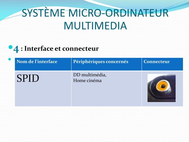SYSTÈME MICRO-ORDINATEUR