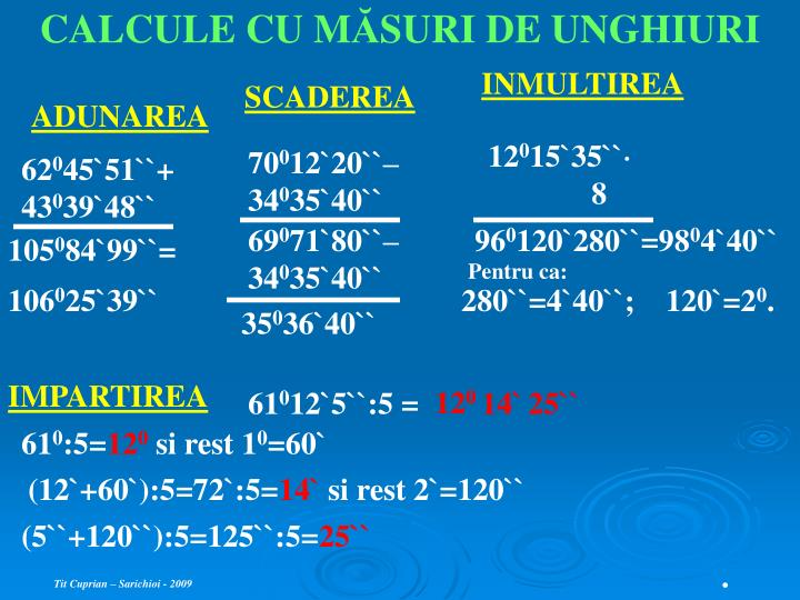 CALCULE CU M