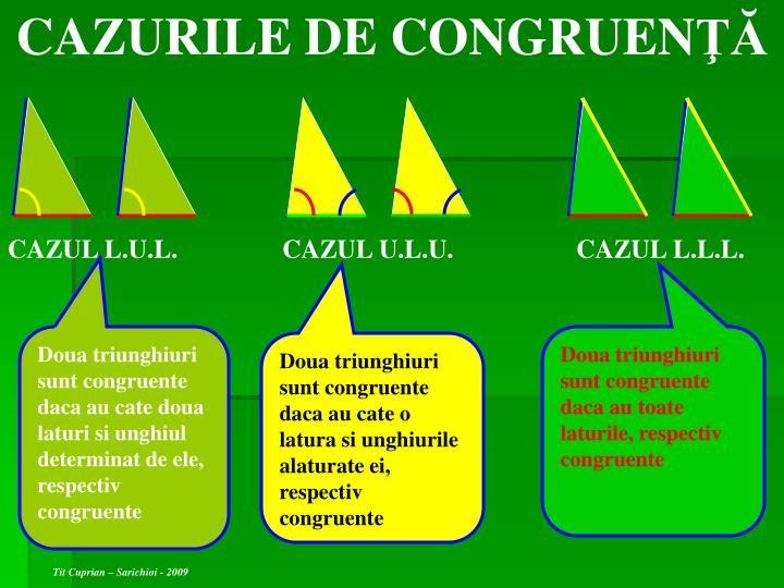 CAZURILE DE CONGRUEN