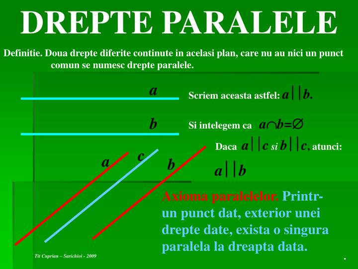 DREPTE PARALELE