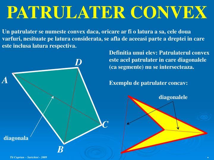 PATRULATER CONVEX