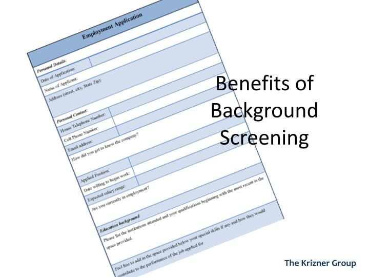 Benefits of Background