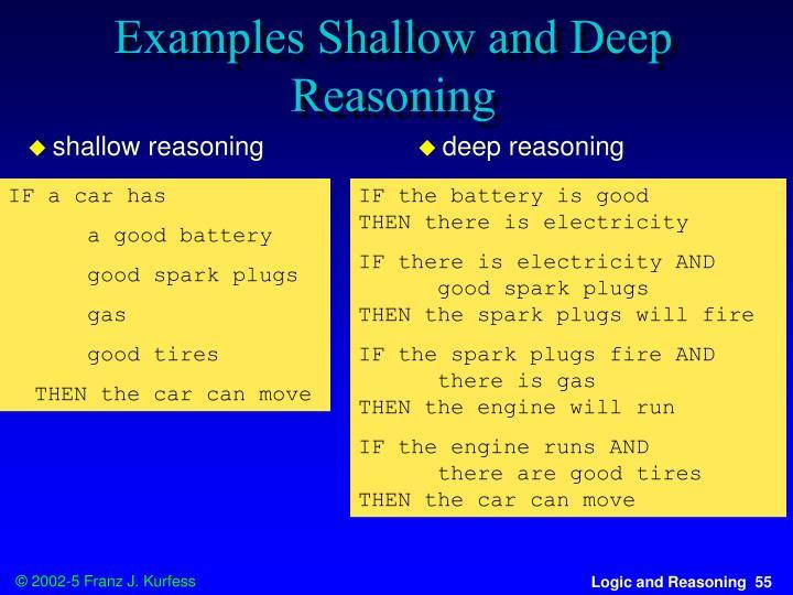 shallow reasoning