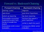 forward vs backward chaining