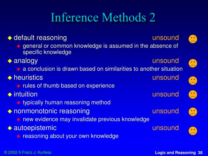Inference Methods 2