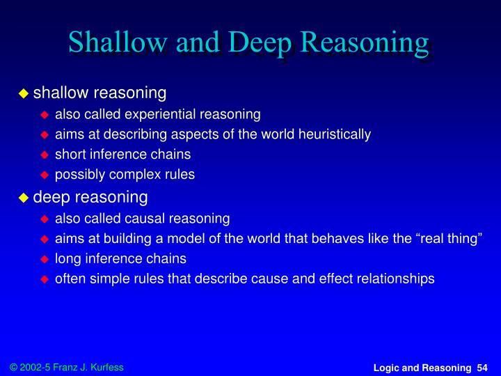 Shallow and Deep Reasoning