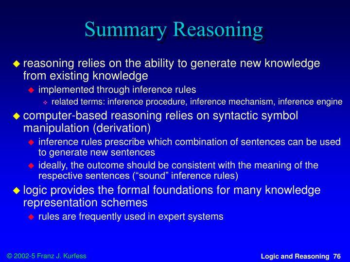 Summary Reasoning