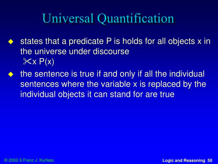 Universal Quantification