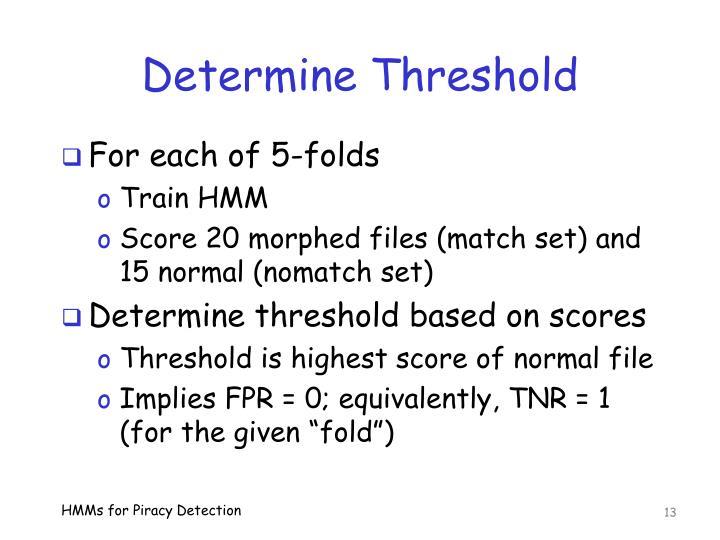 Determine Threshold