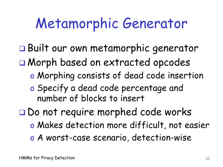 Metamorphic Generator