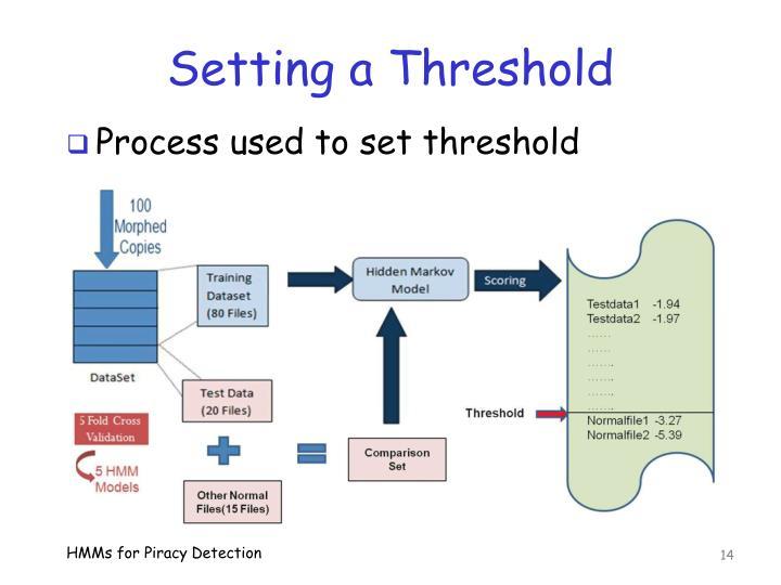 Setting a Threshold