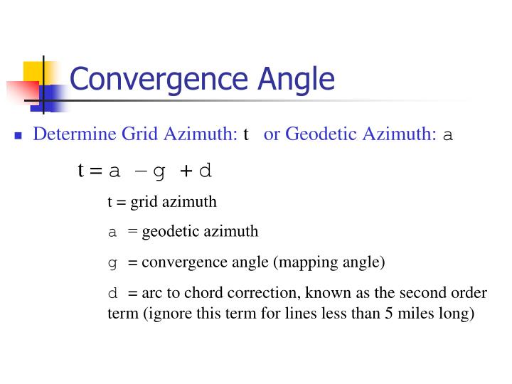 Convergence Angle