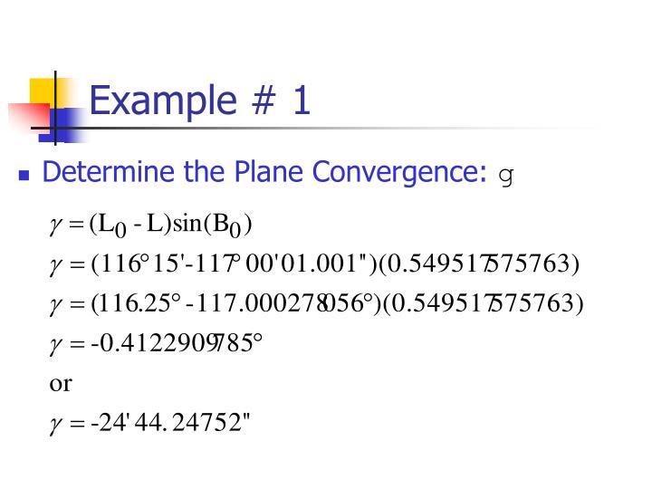 Example # 1