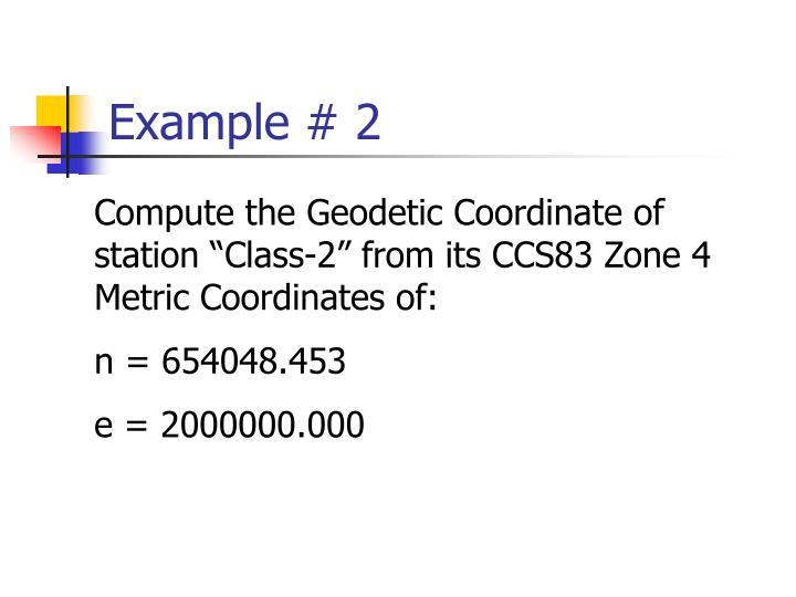 Example # 2