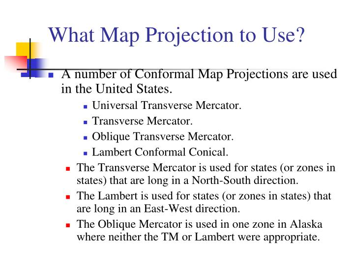 What Map Projection to Use?