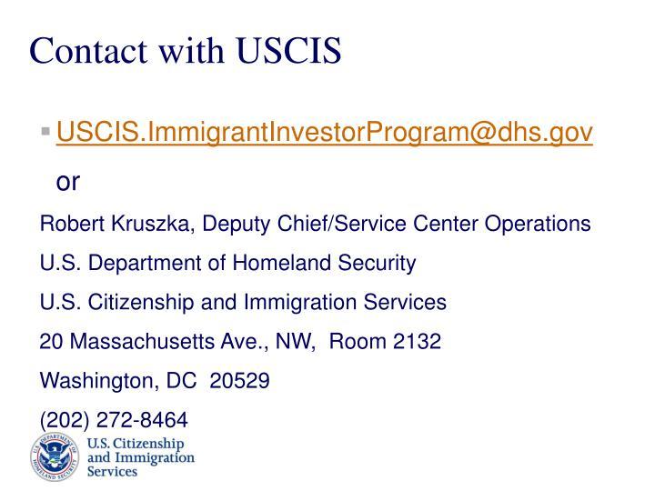 USCIS.ImmigrantInvestorProgram@dhs.gov