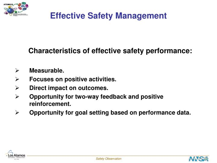 Effective safety management