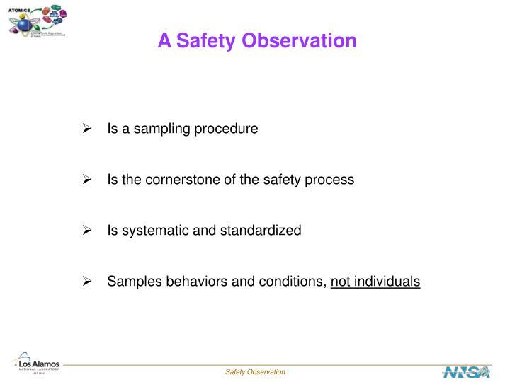 A Safety Observation