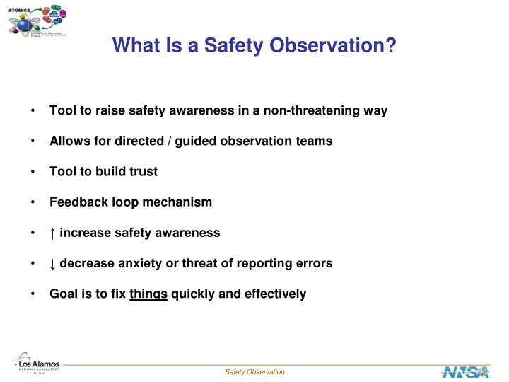 What is a safety observation