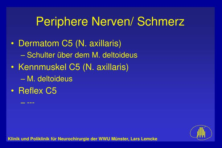 Dermatom C5 (N. axillaris)