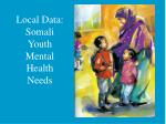local data somali youth mental health needs