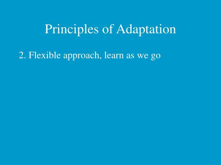 Principles of Adaptation