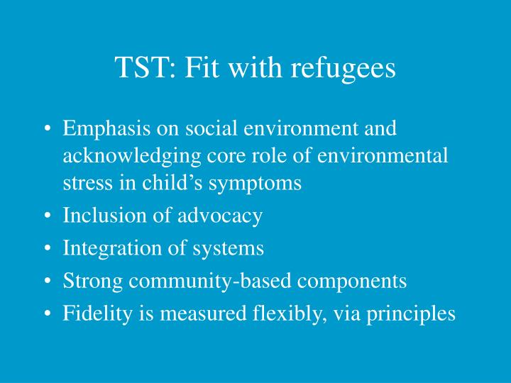TST: Fit with refugees