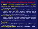 clinical findings infection occurs in 3 stages