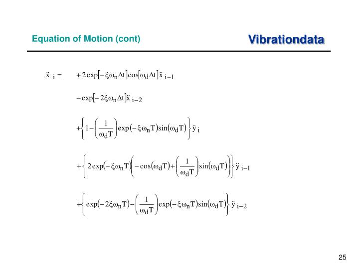 Equation of Motion (cont)