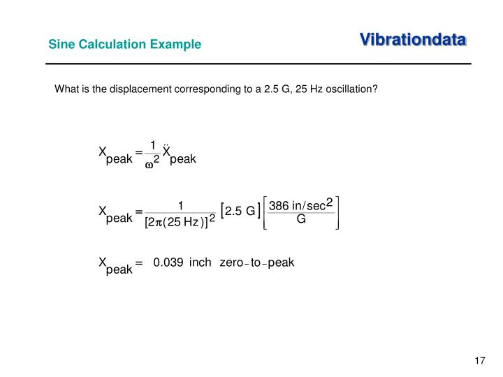 Sine Calculation Example